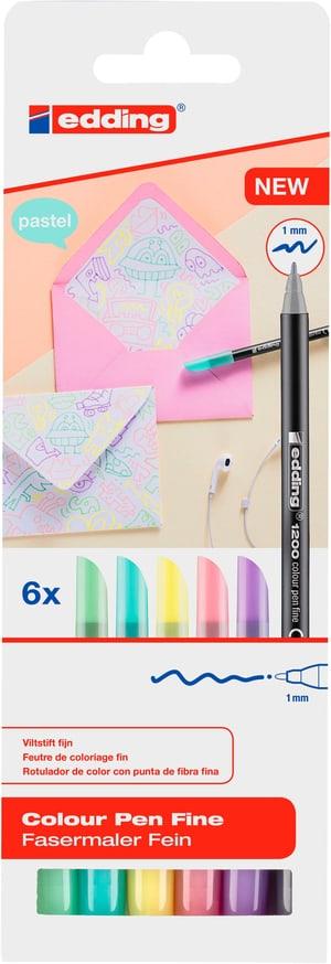 Fasermaler 1200 E-6 pastell