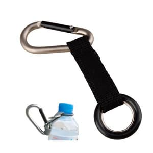 Carabiner with bottle carrier