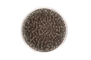 Perle di rocailles trasparente 2,6mm, 17 gr, grigio