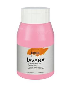 KREUL Javana Stoffmalfarbe für helle Stoffe Rosa 500 ml