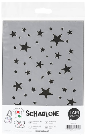 Schablone, A5, Sterne