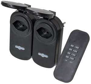 POWER Remote Outdoor Funkset, 2x Zwischenstecker und 1x Sender