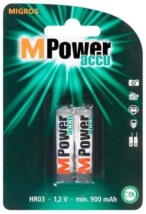 Akku AAA / HR03 900mAh NiMH MPower 2Stk