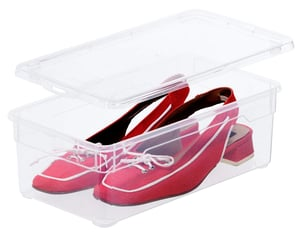 CLEAR 2er-Set Aufbewahrungsbox 5l mit Deckel, Kunststoff (PP) BPA-frei, oliv grün, 2 x 5l
