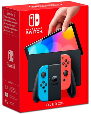 Nintendo Switch OLED - Néon-Rouge/Néon-Bleu