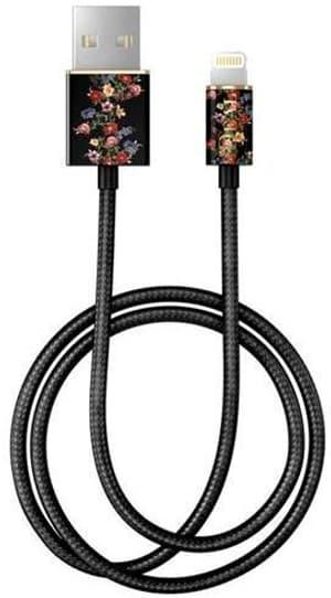 "Câble 1.0m, Lightning->USB  ""Dark Floral"""