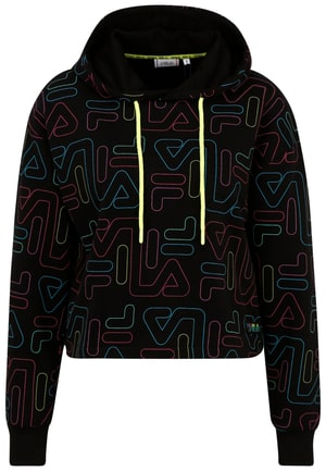 Salina aop cropped hoodie