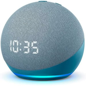 Echo Dot 4. Gen. mit Uhr - Blaugrau