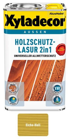 Holzschutzlasur Eiche hell 2.5 l