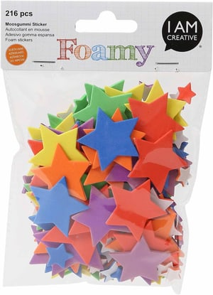 FOAMY, stella colorata, 216 pezzi