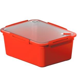 MEMORY Mikrowellendose 5l mit Deckel und Ventil, Kunststoff (PP) BPA-frei, rot