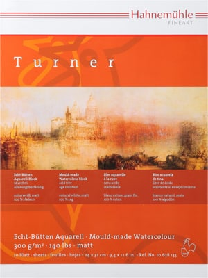 Hahnemühle Turner blocco acquar. 24x32