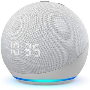 Echo Dot 4. Gen. mit Uhr - Weiss