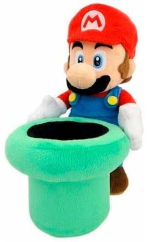 Super Mario mit Rohr Plüsch en peluche