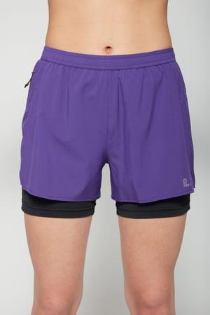 Damen-Shorts 2in1