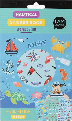 Stickerbook, Nautical, 6 Blatt