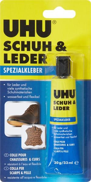 Schuh und Lederkleber