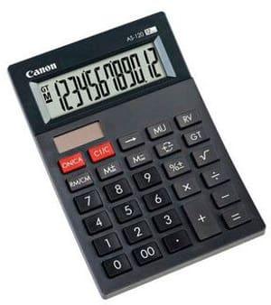 Calculatrice AS-120 12-chiffres noir