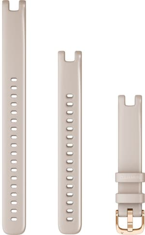 Lily braccialetto 14mm silicone grigio agata con parti in oro rosa