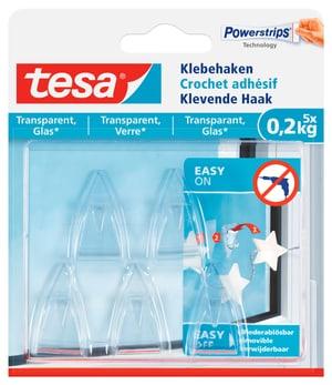 Klebehaken Glas transparent, 0.2 kg