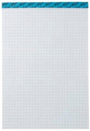 Blocco appunti bianco A4 543190 4mm quadretti, 65g 100 fogli