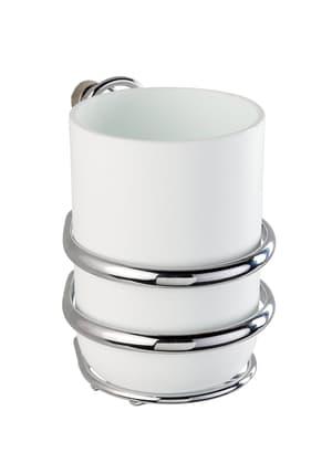 Bicchiere Portaspazzolini In Acciaio Inox