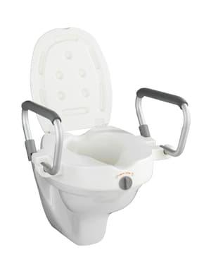 Sedile WC rialzato con braccioli Secura