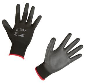 Guanto in maglia fine, nero