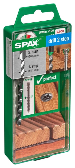 "SPAX terrazza punta con due gradini ""Drill 2 Step"" 1 pz."