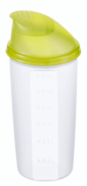 DOMINO Shaker 0.6l mit Deckel und Mixrad, Kunststoff (PP) BPA-frei, transparent/grün