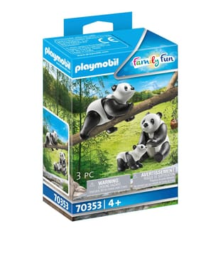 70353 Couple de pandas avec bébé