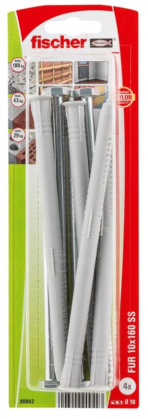 Langschaftdübel FUR 10 x 160 inkl. Schrauben