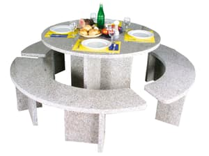 Granit-Tischgarnitur rund