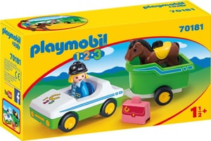 70181 Auto con trasporto cavalli 1.2.3