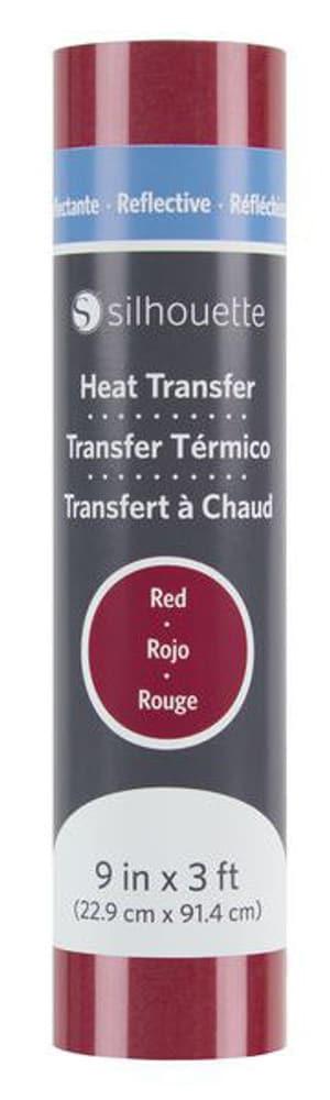 Aufbügelfolie 22.9 cm x 91.4 cm Rot, reflektierend