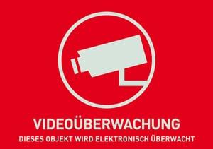 Warnaufkleber Videoüberwachung (deutsch)