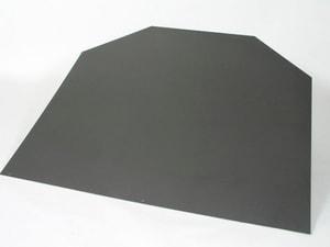 Zoccolo in acciaio esagonale grigio