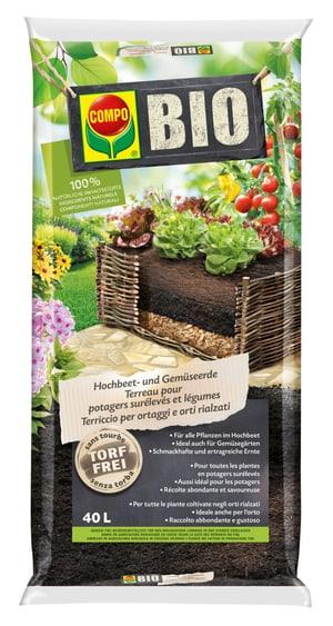 BIO Terreau pour potagers surélevés et légumes, 40 L
