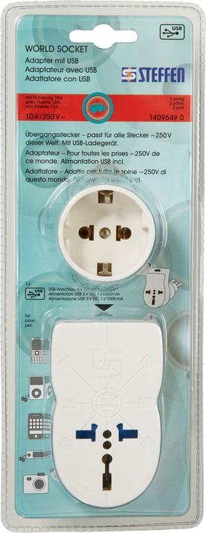 World Socket Adapter mit USB