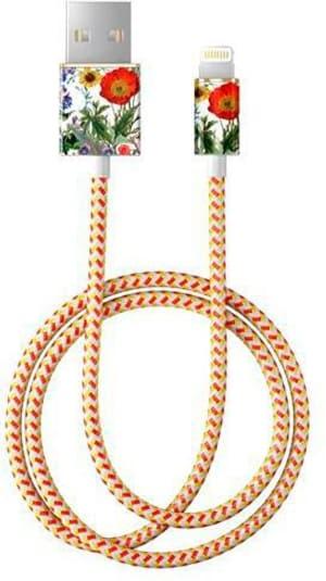 "Kabel 1.0m, Lightning->USB  ""Flower Meadow"""