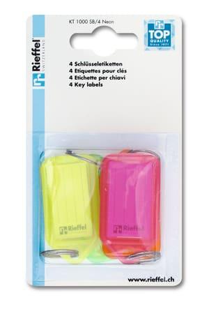 Etichette Neon diversi colori, 4 pezzi