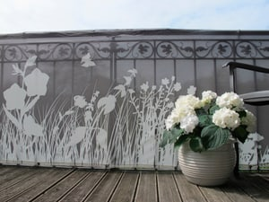 Bris-vue p. balcon motif herbe 300x90cm