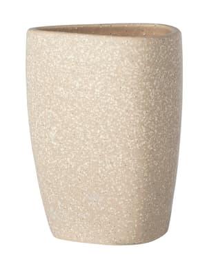 Keramik Zahnputzbecher Pion beige
