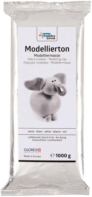 Modellierton, Weiss, 1000 g, lufthärtend
