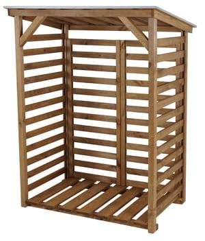 Parete di fondo per scaffale per legna da caminetto