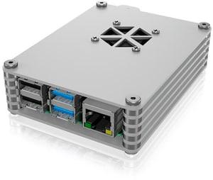 ICY BOX Gehäuse für Raspberry Pi 4 Silber