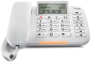 Téléphone fixe filai DL380 blanc