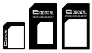 SIM Card Adaptor nano/micro/mini nero