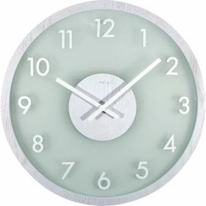 Horloge Murale En Bois Givré Blanc De