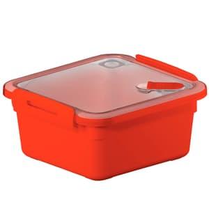 MEMORY Mikrowellendose 1l mit Deckel und Ventil, Kunststoff (PP) BPA-frei, rot
